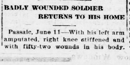 Pvt. Anthony Kulig returns home after 19 months in hospital following WWI -