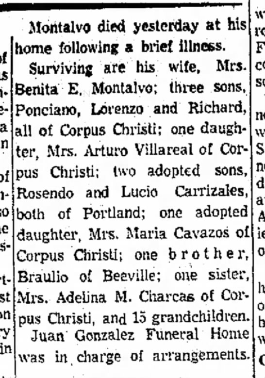 Rosendo, Braulio, Adelina Montalvo - o( an of the Association. first in Montalvo...
