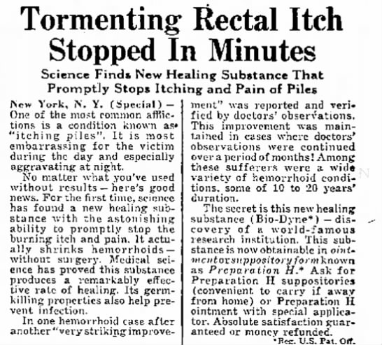rectal itch -