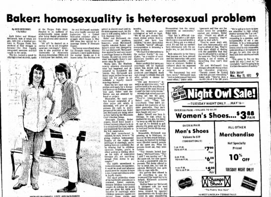 Same-Sex Marriage 15 May 1972 -