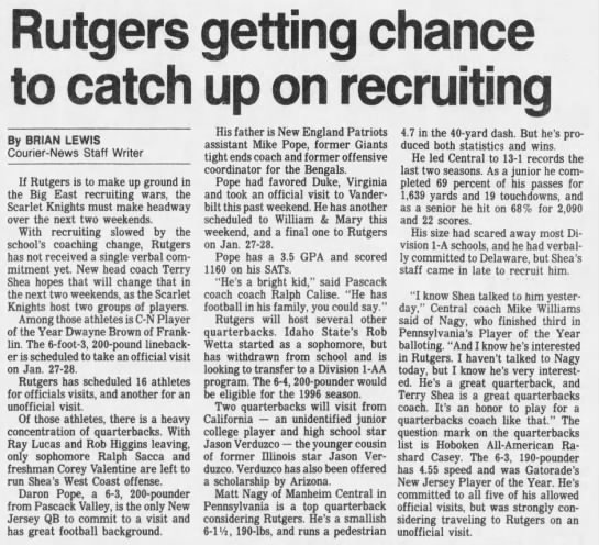 Rutgers getting chance to catch up on recruiting -