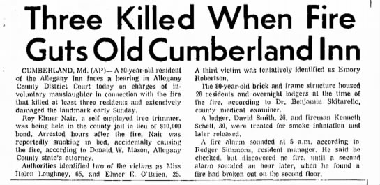 emory robertson sr newspaper article of death -