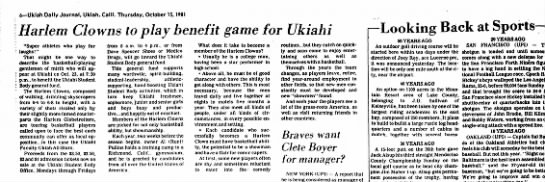 Ukiah Daily JournalCaliforniaOctober 15, 1981Harlem Clowns -