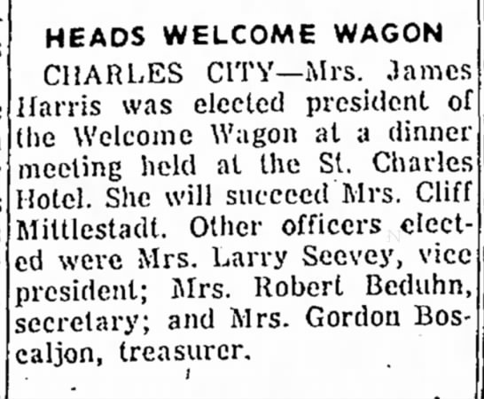 1959 Jan 14 Mrs. Robert Beduhn -