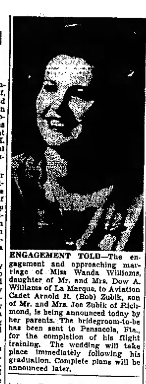 Wanda Williams -- Engagement Announced -