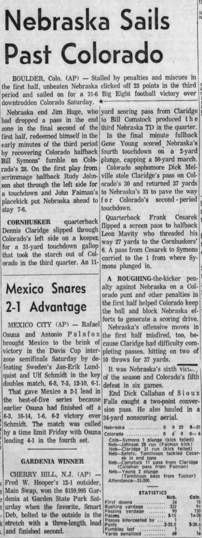 1962 Nebraska-Colorado AP -