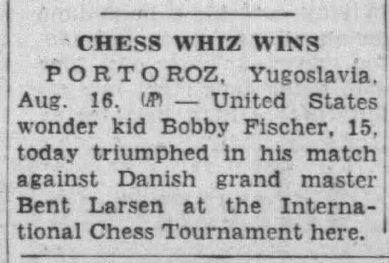 Chess Whiz Wins -