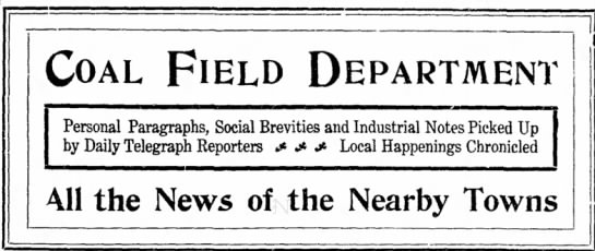 "Social news column content ""picked up by Daily Telegraph Reporters,"" 1905 -"