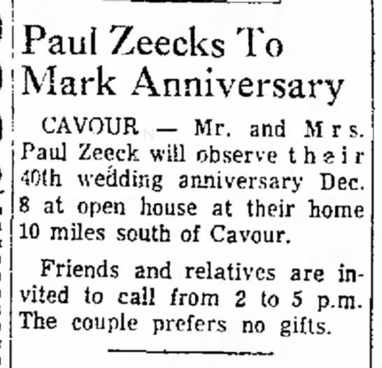 Zeeck Paul Anniv DP 1963 12-01 -