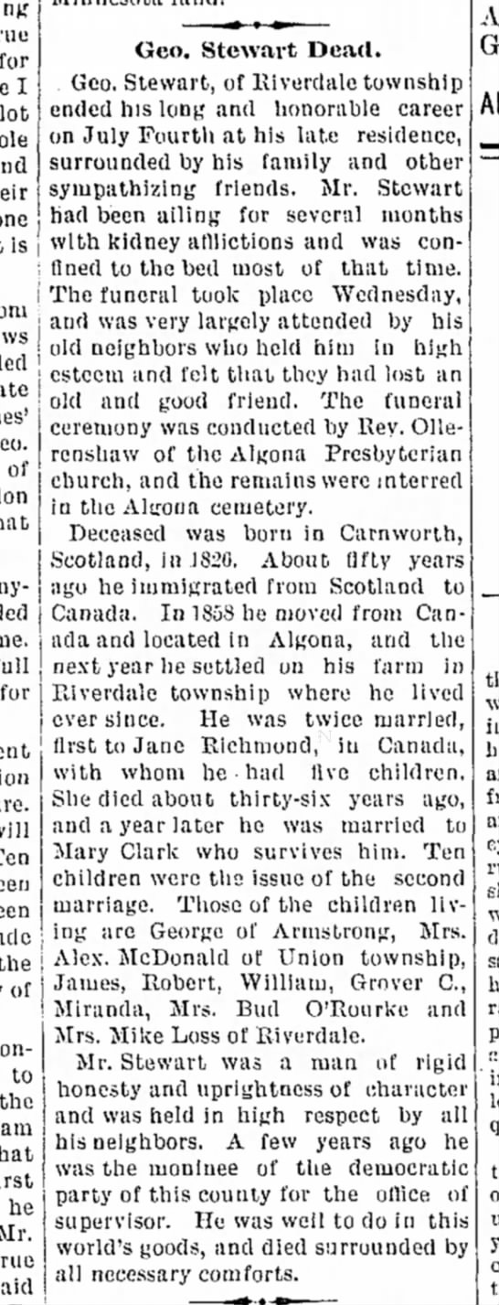 7 july 1899 algona courier -