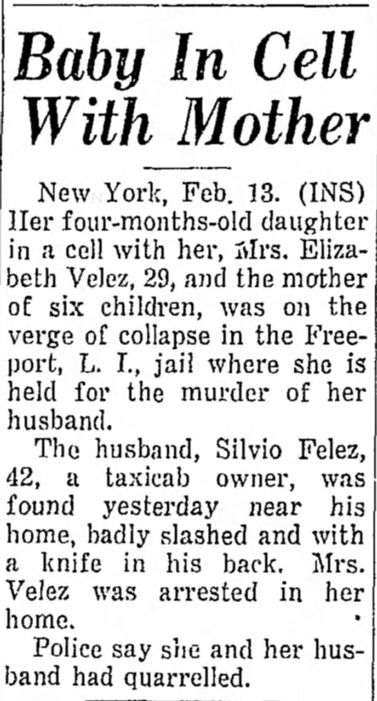 Tragedy - made Baby In Cell WithJMother New York, Feb....