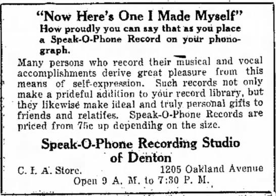 """Speak-o-Phone Ad 1929 """"Now Here's One I Made Myself"""" -"""