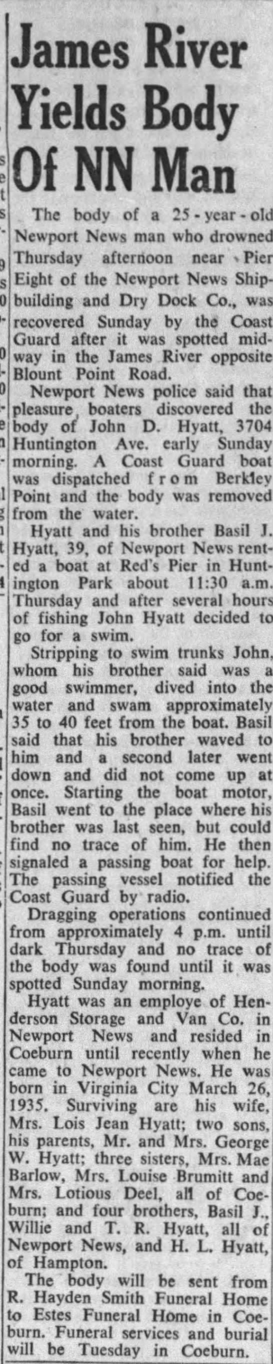 Daily Press, Newport News, Virginia, Monday, July 11, 1960 -