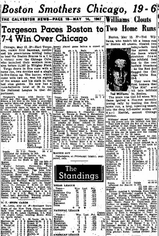 Galveston News May 14 1947 - Kurds Orange's the A licit a a l l y on 3 1 0 -...