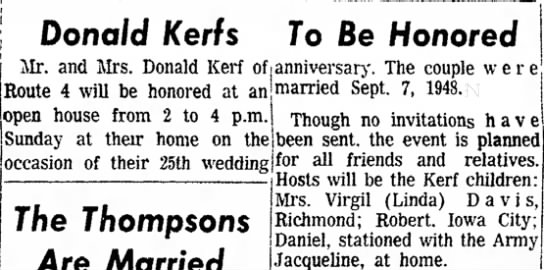 25th open house for the Kerf. 9-7-1973 -