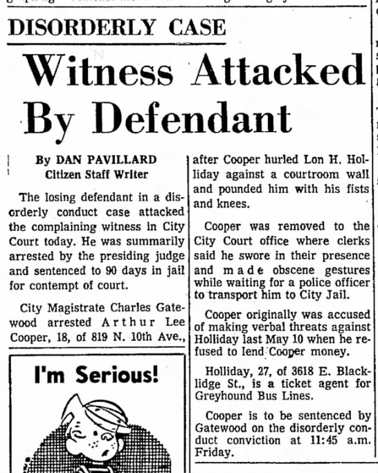 disorderly conduct against dad7july1965 -