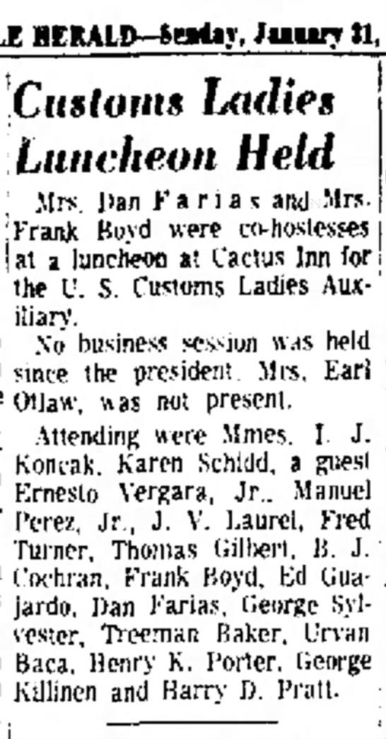 Marcella luncheon 1965 Brownsville -