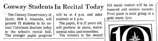 Conway Day School - Christmas Recital 12-15-1968 -
