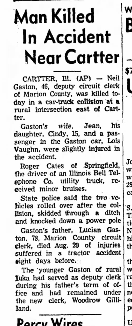 Cartter Accident 1966 -