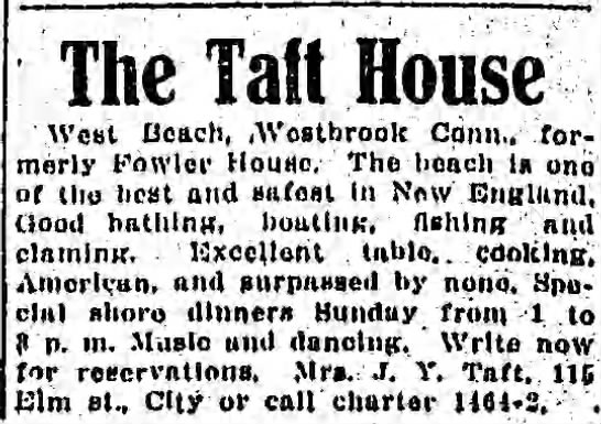 WESTBROOK 1914.06.28 Mrs J Y Taft at Taft House -