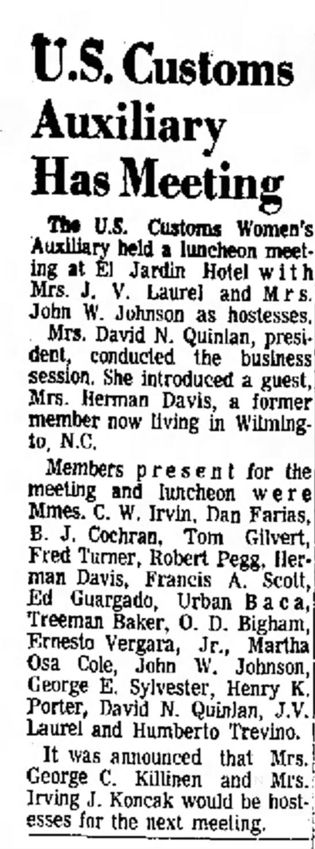 Marcella meetin 1965 Brownsville -