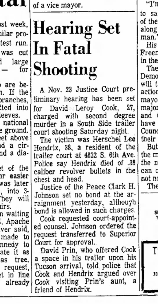 November 23rd - Follow up article to original Homicide article. -