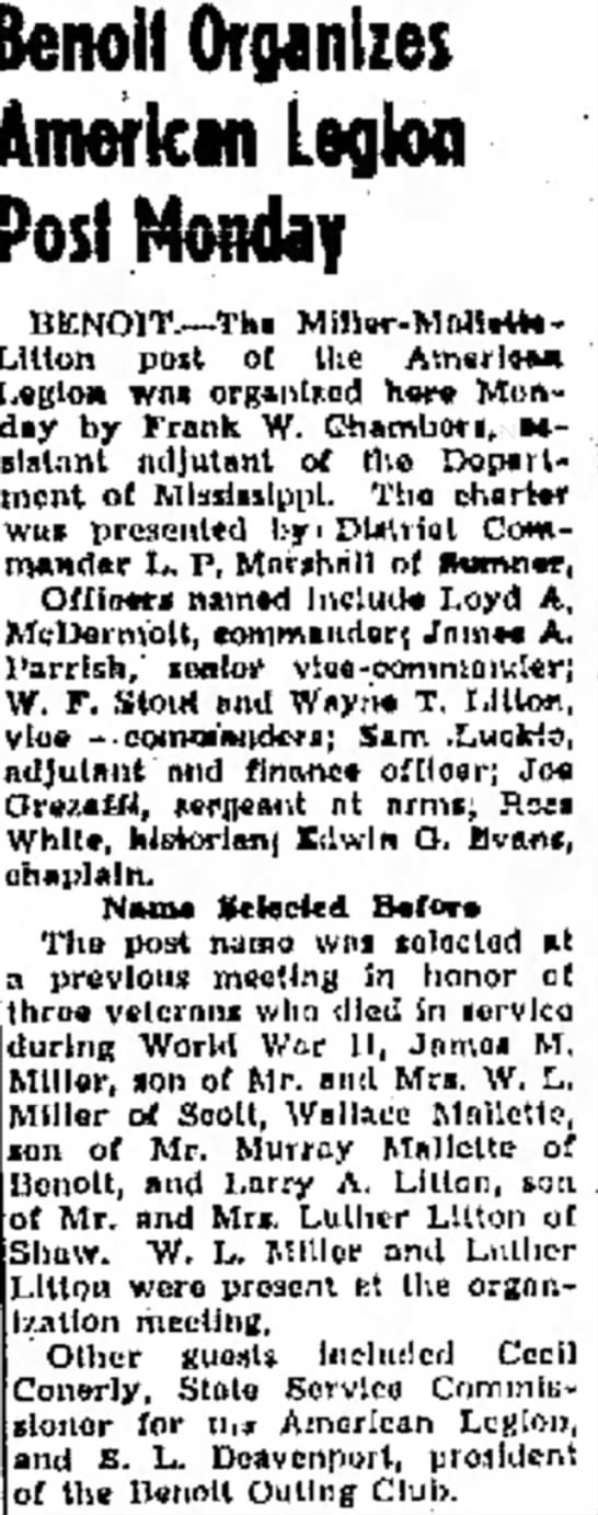 22 May 1947 The Delta Democrat-Times. Greenville, MS -