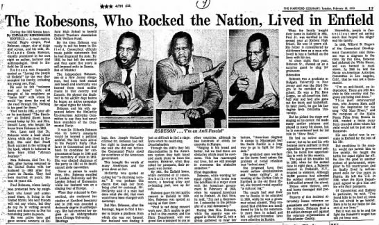 ROBESONS LIVED IN ENFIELD 2-10-1970 PG 17 -