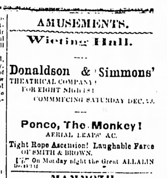 Syracuse Daily Courier And Union, Syracuse, New York, 27 December 1865. Page 2. -
