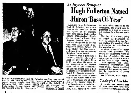 Hugh Fullerton Boss of the Year 1973 -