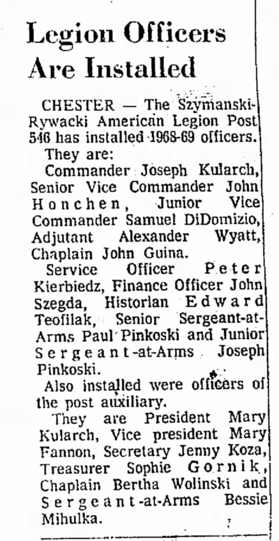 Sanuel DiDomizio -American Legion officers -