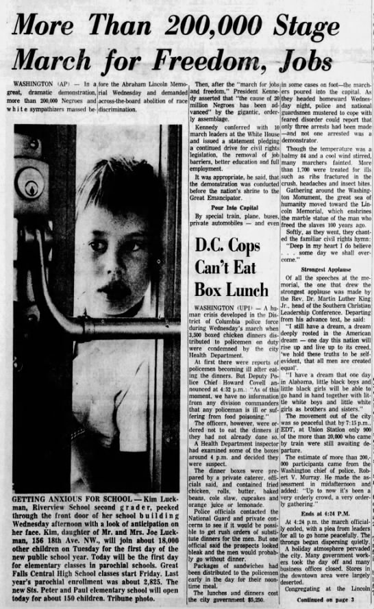 Coverage of the March on Washington, 1963 -