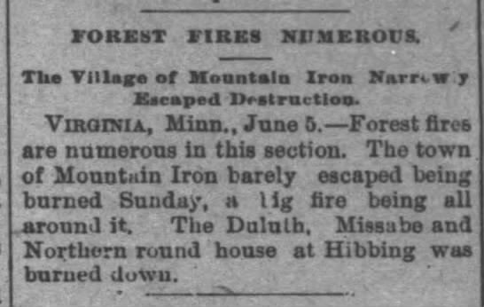 1894 forest fires on DM&N line -