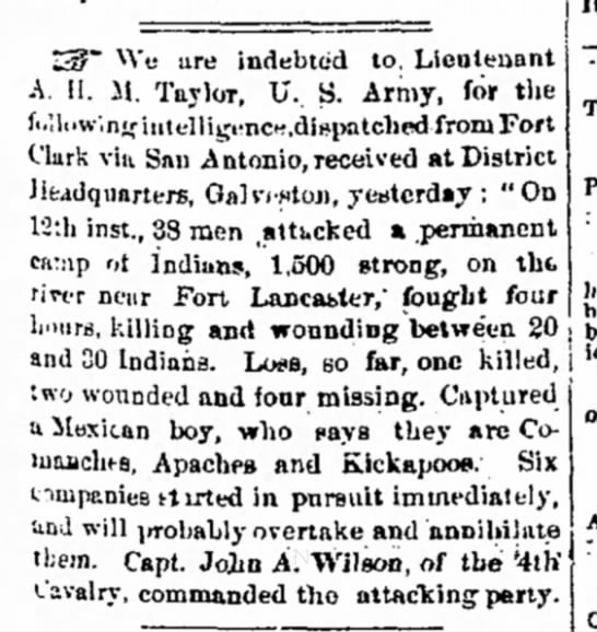 Galvaston Daily News March 22 1867 - i Z3?~ We ure indebted to, Lieutenant A. H. M....
