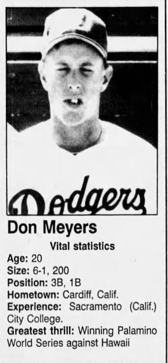 Don Meyers - July 16, 1990 -