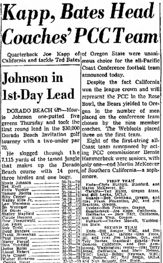 1958 All-Pacific Coast Conference football team -