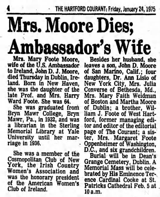Mary Foote Moore obit -