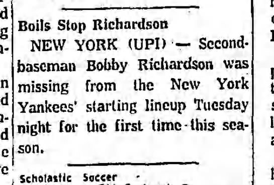 - Boils Stop Richardson NEW YORK (UPI) Second-...