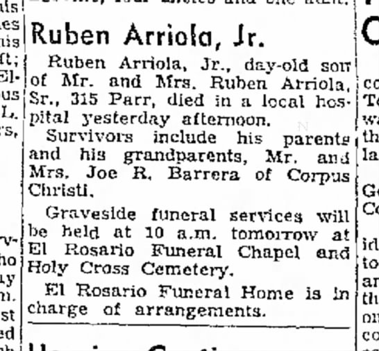Ruben Arriola Jr - obit -