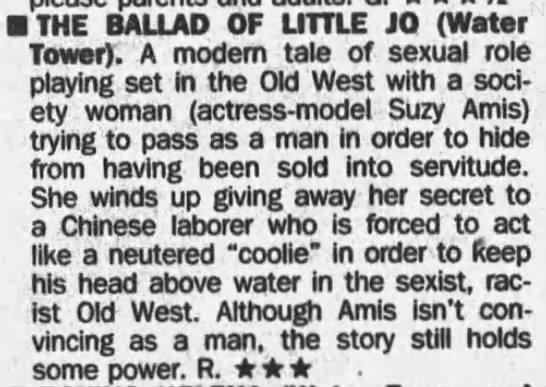The Ballad of Little Jo -