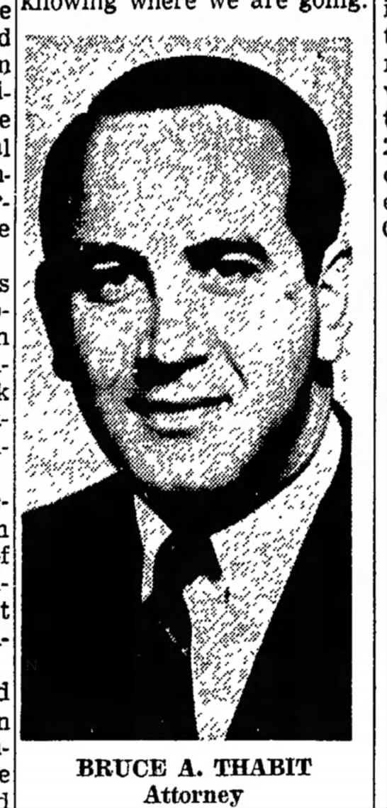 Bruce Thabit Friday, May 24, 1968 The Van Nuys News -