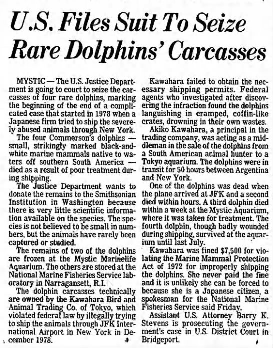 Carmelita body - U.S. Files Suit To Seize Rare Dolphins'...
