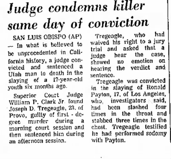 judge condemes man to death day same day of conviction 7/14/71 -