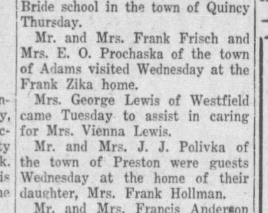 Frank Frisch E O Prochaska Frank Zika Wisconsin  1932 -