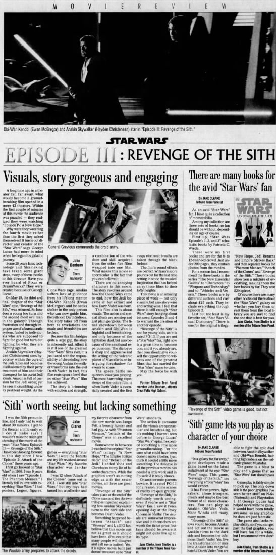 Movie Review Of The 2005 Film Star Wars Episode Iii Revenge Of The Sith Newspapers Com