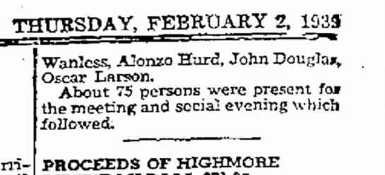 Clifford Glasser 02.02.1939 The Daily Plainsman -