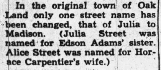 Alice and Julia Streets -