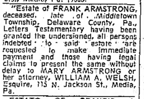 Frank Armstrong obit7aug1970 -