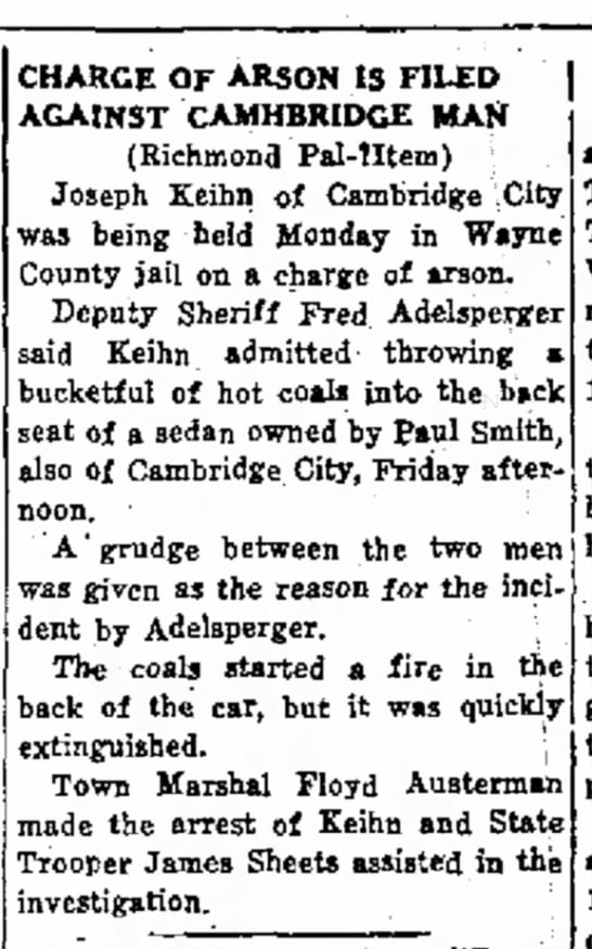 Joe Keihn arson arrest
