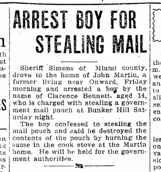 13 Oct 1918 Lawrence and the mailbag -